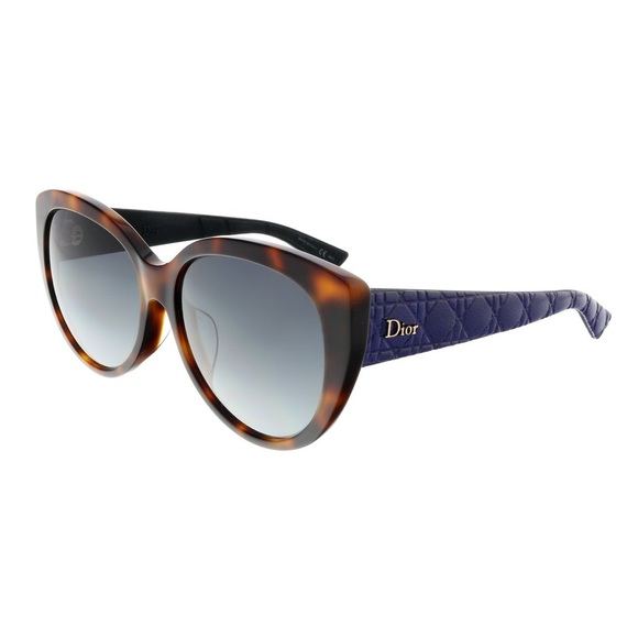 Dior DIORLADY 1RF Havana Blue Cat-eye Sunglasses